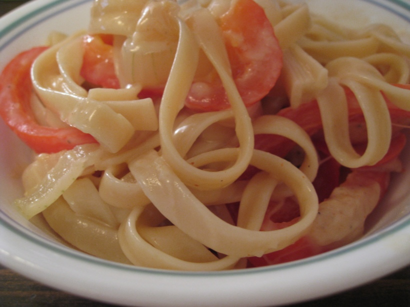Fettucine with Sweet Pepper-Cayenne Sauce