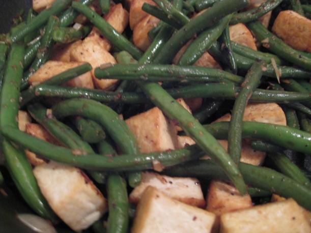 Green beans and tofu