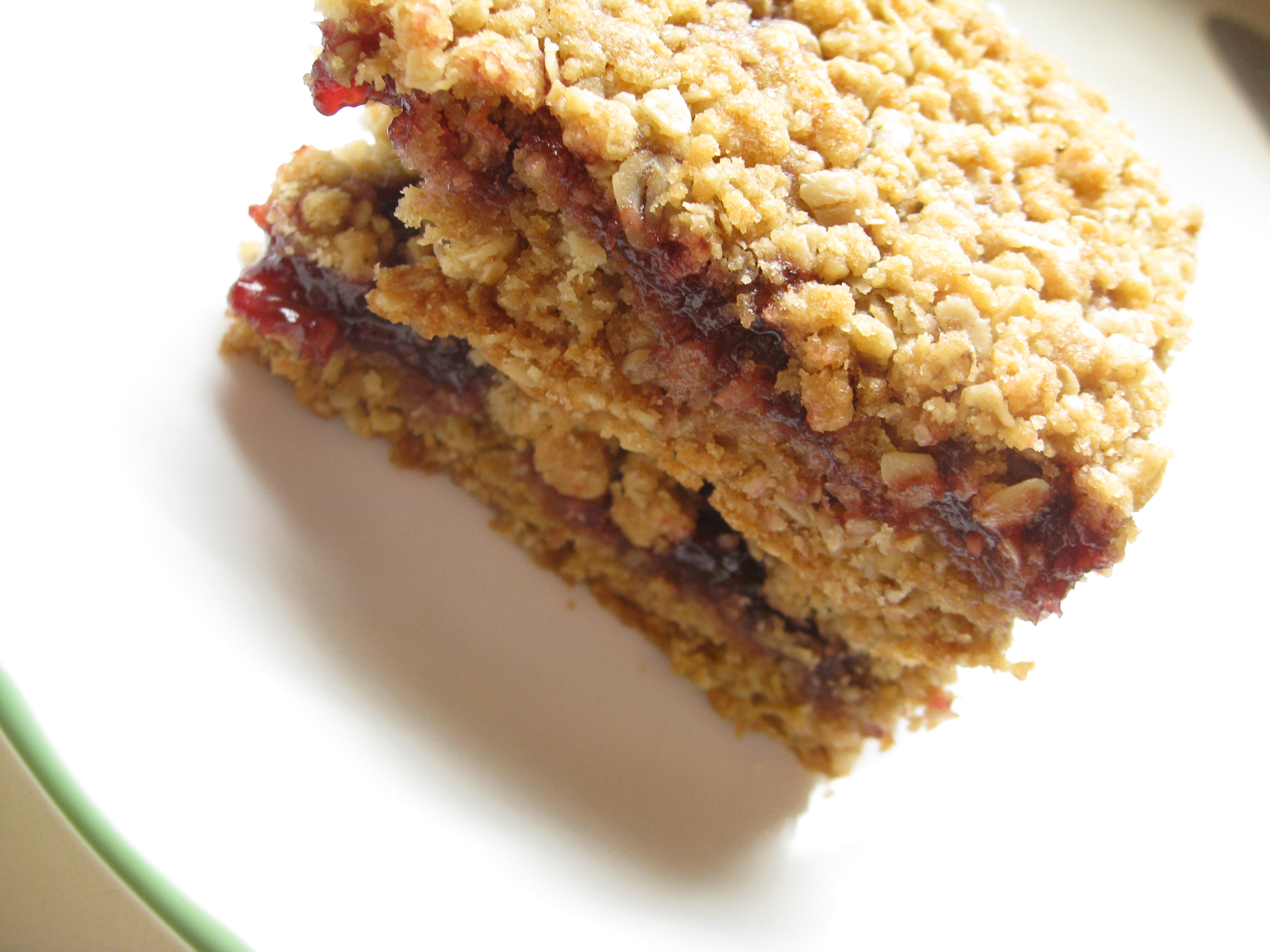 Raspberry Oatmeal Bars | DoughSeeDough