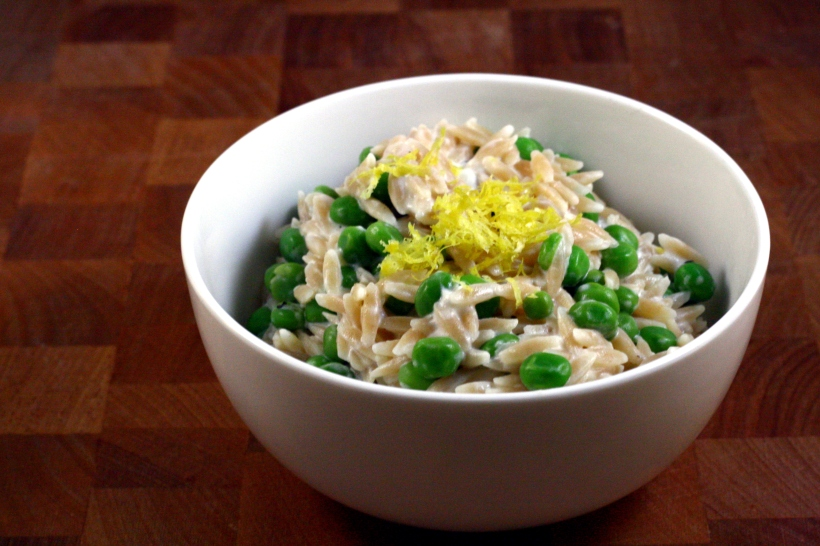 creamy lemon orzo