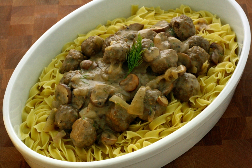 meatballs in creamy dill sauce