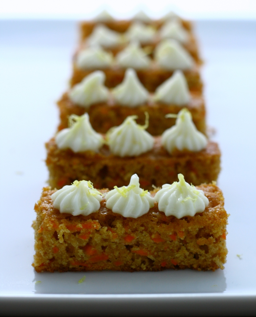 healthy carrot cake with lemon cream cheese frosting | doughseedough.net