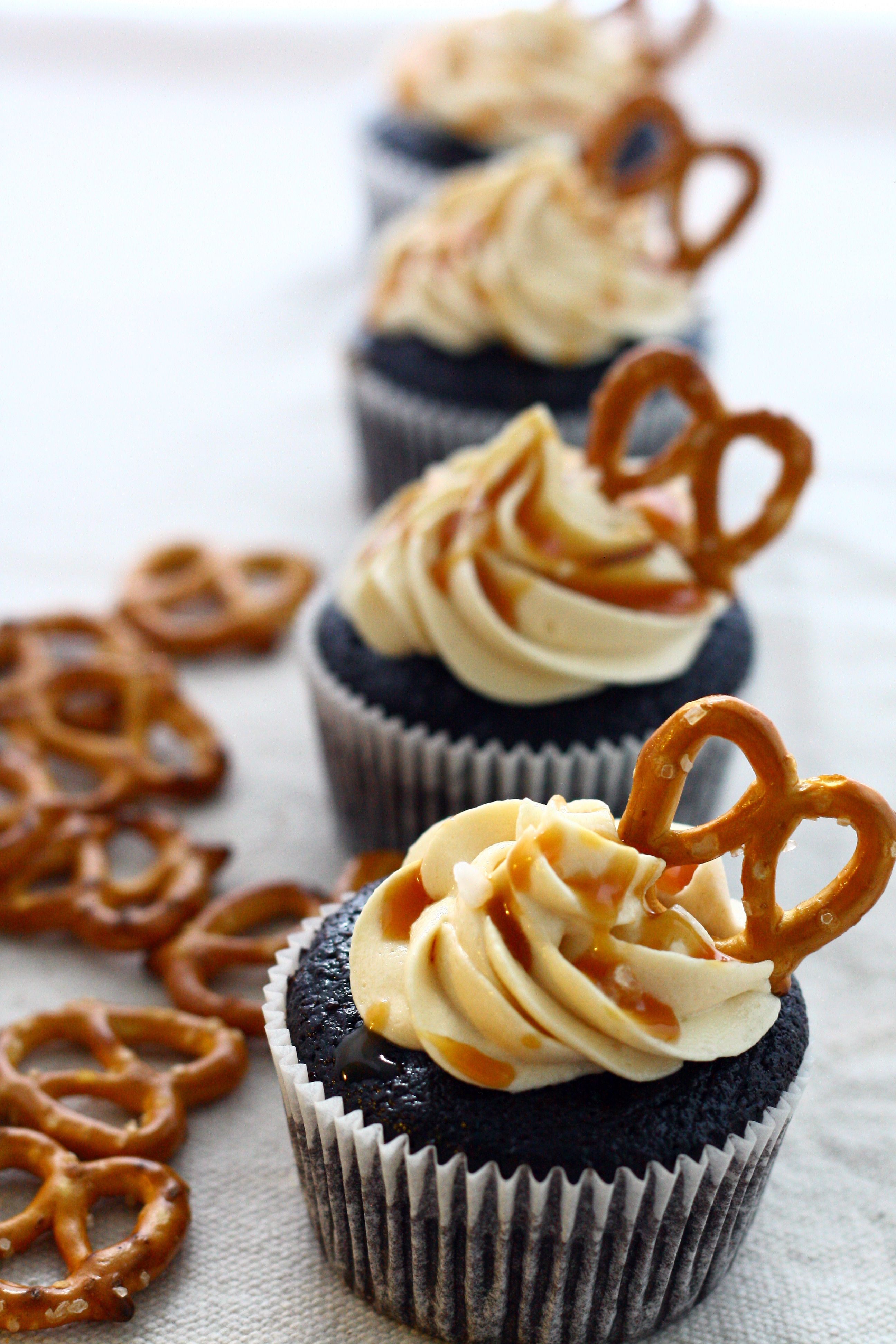 Chocolate Stout Cupcakes with Salted Caramel Frosting | doughseedough ...