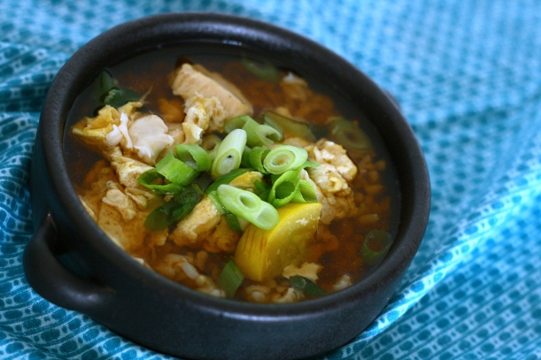 Easy Japanese Chicken Rice Soup | doughseedough.net