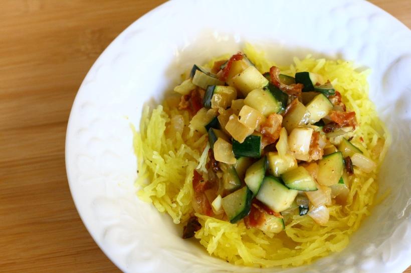 dairy free spaghetti squash carbonara | doughseedough.net