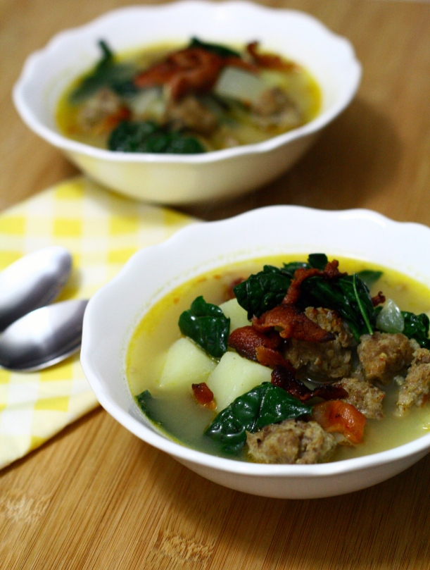 Dairy Free Zuppa Toscana (Italian Sausage & Kale Soup) | doughseedough.net