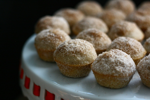 Mini Vegan Apple Cinnamon Donut Muffins | doughseedough.net