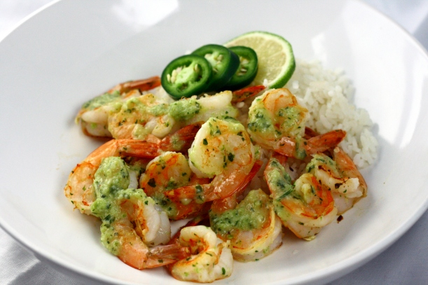 Spicy Coconut Shrimp with Rice | doughseedough.net