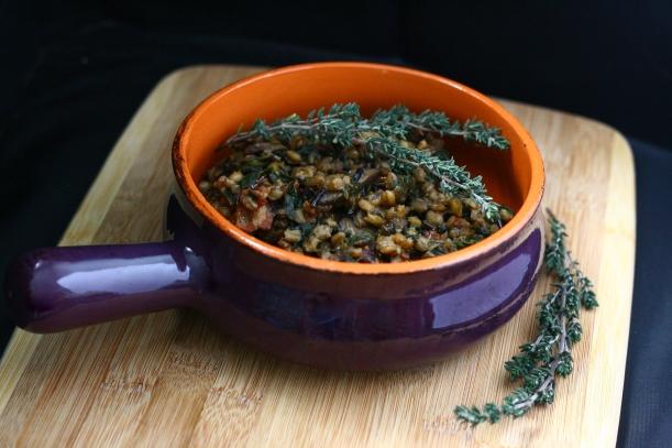 Mushroom Barley & Wild Rice Risotto | doughseedough.net
