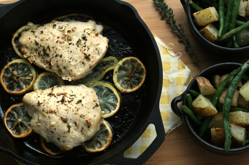 Lemon Thyme Roasted Chicken | doughseedough.net