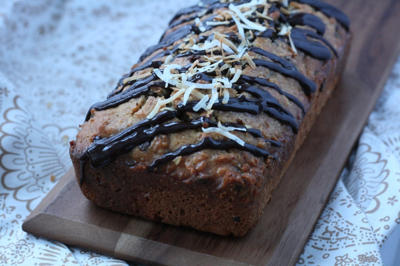 Dairy-Free Almond Joy Bread | doughseedough.net
