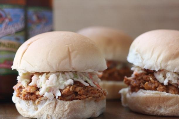 Beer Can Crockpot Chicken Sandwiches | doughseedough.net