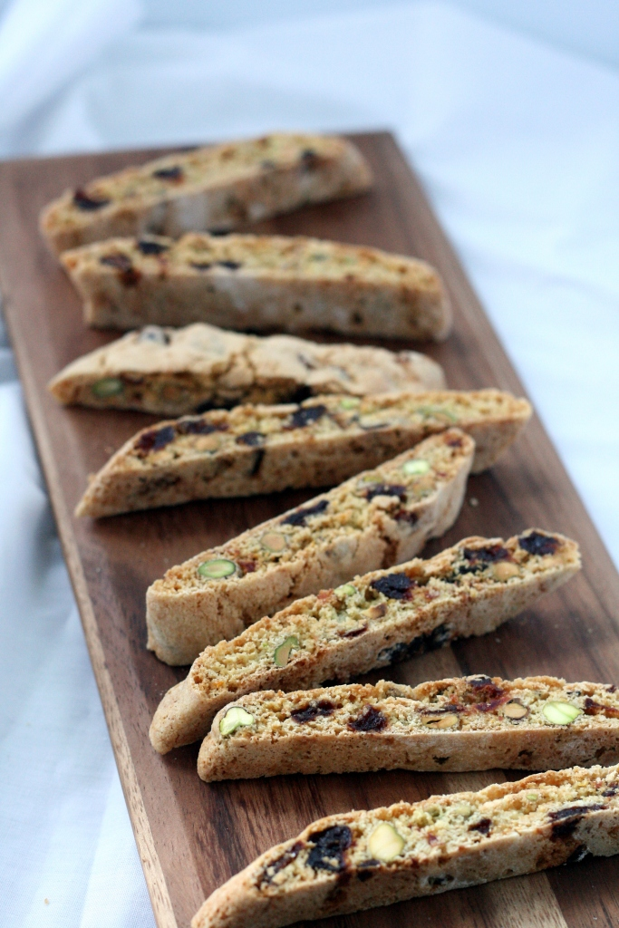 Pistachio & Dried Cherry Biscotti | doughseedough.net