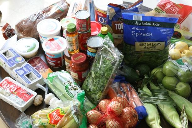 Groceries for SNAP Challenge 2014   doughseedough.net