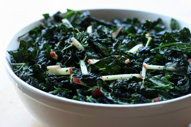 Kale & Apple Salad with Poppy Seed Dressing | doughseedough.net