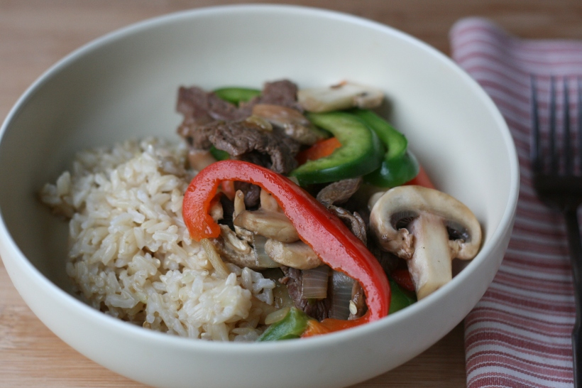 Easy Pepper Steak with Mushrooms | doughseedough.net